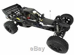 1/5 Rovan 450cb 45cc Gaz, Essence Buggy 1/5 Échelle Rtr Km Hpi Baja 5b Compatible
