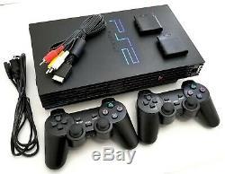 2 Sans Fil Controleurs Sony Ps2 Game System Console De Jeu Playstation 2-noir