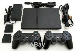 2 Sans Fil Controleurs Sony Ps2 Slim Système De Jeu Console De Jeux Playstation 2