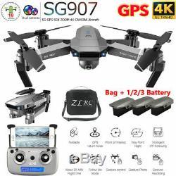 2020 Drone Rc Drones Sg907 4k Hd Caméra Gps Wifi Fpv Pliable Quadcopter Sac / Boîte