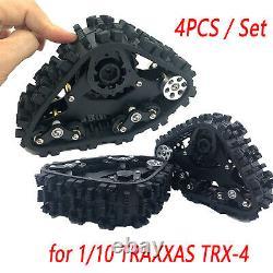 4pc/set Tracks Roue Neige Pneu Sandmobile Conversion Pour 1/10 Traxxas Trx-4 Voiture