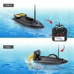 500m Sans Fil Noire Rc Appât De Pêche Bateau Double Moteurs Fish Finder Searchlight
