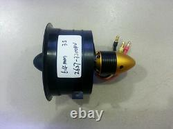 64mm 70mm 90mm 120mm 12 Lames Conduit Système De Ventilateur Edf Pour Avion À Réaction Avec Moteur