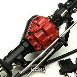 Aluminium Avant Et Arrière Avec 4 Roues Motrices Essieux Lock Pour Axial Scx10 1/10 Échelle Rc Crawler