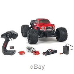 Arrma Granite 1/10 4x4 Échelle Mega Rc Télécommande Monster Truck Rtr Rouge / Noir