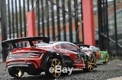 Audi R8 Style De 4 Roues Motrices Drift Radio Télécommande De Voiture Rc Drift Car 110 Échelle