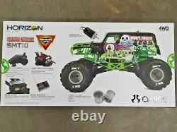 Axial Smt10 Grave Digger Rtr 1/10 4wd Monster Truck Axi03019 Flambant Neuf