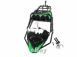 Cage Rovan V2 Steel Sable Rail Rouleau De Carrosserie Panneaux L. E. D Convient Hpi Baja 5b 5t Vert