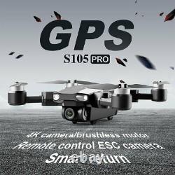 Drone X Pro Gps Rc Dual Camera Hd 4k 6k 5g Wifi Fpv Quadcopter 3 Batterie Rtf
