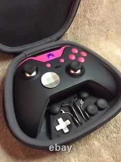 Elite Xbox One 1 Controller Custom, Pink Led, Boutons, Lettres Abxy