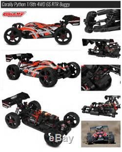 Équipe Corally Python 6s Echelle 1/8 Brushless Buggy Arma Typhon Destroyer! Rtr