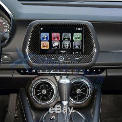 Fibre De Carbone Écran De Navigation Panneau De Commande Version Decal Pour Chevy Camaro 2016-up