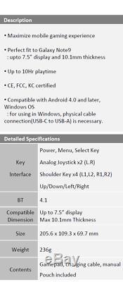 Glap Lecture P / 1 Mobile Control Gaming Pour Android Écrans Jusqu'à Prise En Charge 7,5 Pouces