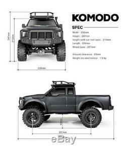 Gmade 54016 1/10 Komodo Rock Crawler 4 Roues Motrices Hors Route 2.4 Radio Esc & Motor Rtr
