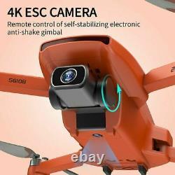 Gps Drone Pliable Rc Quadcopter Avec 4k Hd Dual Camera Wifi Fpv Résistance Au Vent