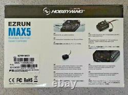 Hobbywing Ezrun Max5 V3 1/5 Échelle Étanche Esc 200a, 3-8s 30104000