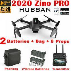 Hubsan Zino Pro 4k Fpv Rc Quadcopter Avec 3 Gimbal Gps Caméra 4.5km Drone + 2battery