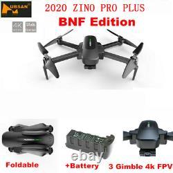 Hubsan Zino Pro+ 5g Wifi App Drone Fpv Quadcopter Brushles 3gimbal+batterie, Bnf