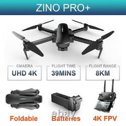 Hubsan Zino Pro+ 8km Drone Gps 4k Fpv 5g App 3gimbal Foldable Quadcopter+batterie