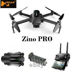 Hubsan Zino Pro Drone 4.5km Fpv 4k Hd Caméra Pliable Quadcopter 3gimbal + Batterie