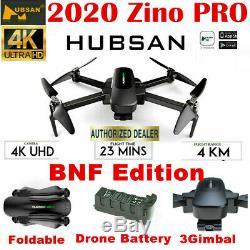 Hubsan Zino Pro Fpv Drone 5g Wifi App 4k Caméra Quadcopter Brushless 3gimbal, Bnf