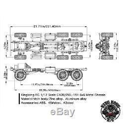 Kingkong Rc 1/12 Échelle Ca30 / Zisl-151 6x6 Camion Soviétique 1/12 Châssis En Métal Kit Set