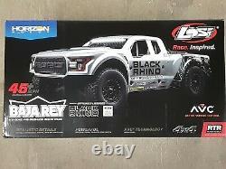 Losi Baja Rey Ford Raptor 1/10 Brushless Desert Truck Black Rhino Los03020v2t2