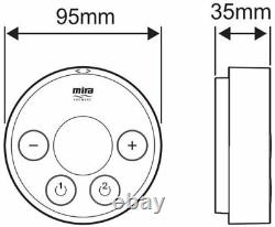 Mira Platinum Controller Sans Fil Pour Mixer Douche Double Sortie Modes 1.1796.007