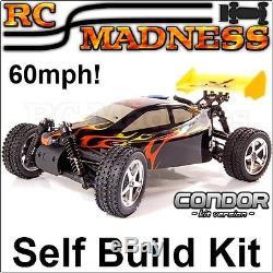 Nitro Rc Car Buggy Kit Radiocommandé Condor Auto Construire Petrol