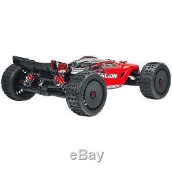 Nouveau Arrma Echelle 1/8 Talion V4 6s Blx Truggy Rc Truck Rtr Prêt À Fonctionner Rouge / Noir