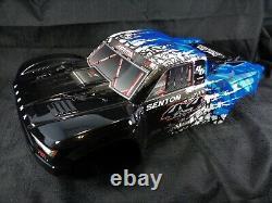 Nouveau Arrma Senton 4x4 3s Blx Blue Black Painted Body Shell With Body Clips 6s Blx