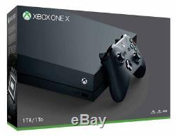 Nouveau Microsoft Xbox One X True 4k 60fps Hdr + 1 To Wireless Controller