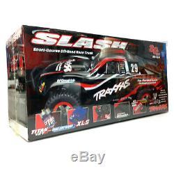 Nouveau Traxxas 1/10 Slash Noir 2rm Sc Short Course Truck Rc Ready To Race Rtr