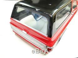 Nouveau Traxxas Trx-4 Corps Blazer K5 Painted Noir Et Rouge Chrome Pare-chocs Rv3k