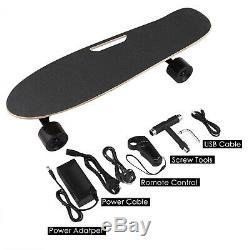 Planche À Roulettes Électrique 20 Kmh Longboard Skate Sans Fil Bluetooth Avec Télécommande