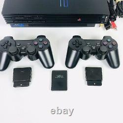 Playstation 2 Ps2 Fat Console Bulle, 2 Contrôleurs Sans Fil, Carte Mémoire De 128 Mo