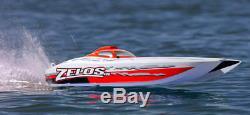 Pro Bateau Proboat Zelos G 48 Rtr Catamaran Radiocommandé Gas Powered Bateau