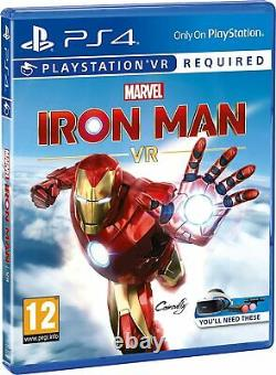Ps4 Vr Twin Playstation Move Controller Boxset Avec Iron Man Game Marque Nouvelle