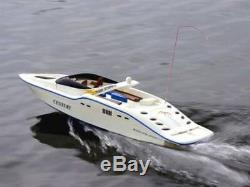 Radio Haute Vitesse Télécommande Century Rc Racing Speed boat Black Blanc Vendredi