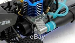 Rc Exceed Froza 1/10 Nitro Gaz. 18 Moteur À Distance Rc Rtr Buggy Black Fire