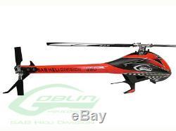 Sab Goblin 380 Flybarless Hélicoptère Électrique Kit Rouge Noir Avec 380mm Lames Principales