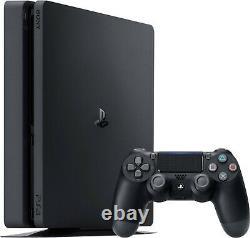 Shipnow Sony Playstation 4 Ps4 Console Noire 1tb Avec Contrôleur Sans Fil Nouveau Slim