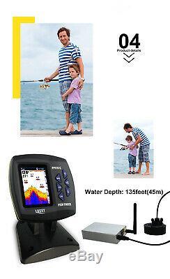 Sonar Chanceux F918-cwls 3.5 Écran LCD Fish Finder 980ft Télécommande Sans Fil