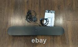 Sonos Beam Wireless Smart Sound Bar Avec Commande Vocale, Noir- Flambant Neuf