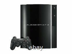 Sony Playstation 3 Ps3 Fat Original Console Avec Contrôleur Compatible 80 Go