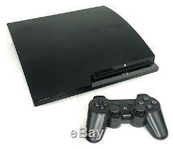 Sony Playstation 3 Ps3 Slim Console Avec Télécommande Sans Fil Et Câbles