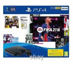 Sony Playstation 4 Avec Fifa 21 Et Deux Contrôleurs Sans Fil Dualshock 500go