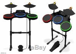 Sony Ps3 Guitar Hero World Tour Band Kit Set Batterie Drum Pied De La Pédale De Cymbales Ps2