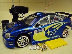 Subaru Impreza Wrc Style De Contrôle À Distance De Voiture Vitesse 1/10 20 Mph Noir Bleu