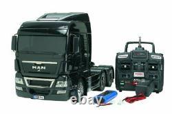 Tamiya Japon Rc Camion Remorque Man Tgx 26.540 6x4 Opération Complète 1/14 Échelle Rctr